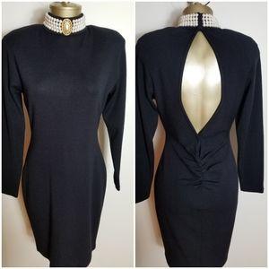 VINTAGE 1980s ANDREA JOVINE BLACK DRESS